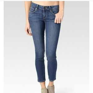New Paige Kylie crop roll up Andrea jeans